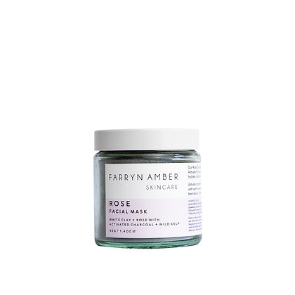 Farryn Amber   Rose Facial Mask 40g   Cruelty Free