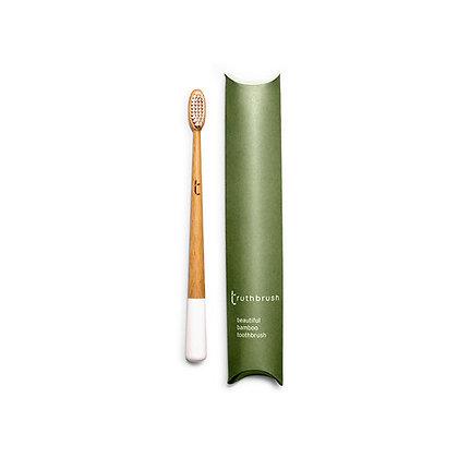 Truthbrush Bamboo Toothbrush | Medium Bristles | Cloud White