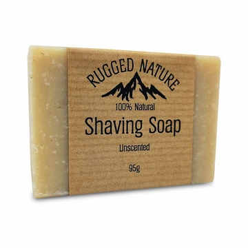 Rugged Nature Shaving Soap | Plastic Free | Unscented | 95g