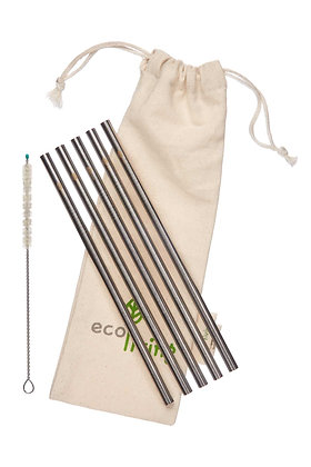 Stainless Steel Straight Drinking Straw Pack
