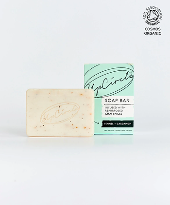 Upcircle Fennel & Cardamom Chai Soap Bar 100g