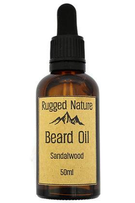 Rugged Nature Sandalwood Beard Oil 50ml