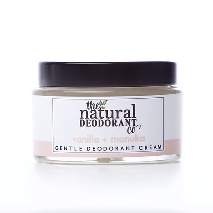 The Natural Deodorant Co. | Gentle Deodorant Cream 55g | Vanilla & Manuka