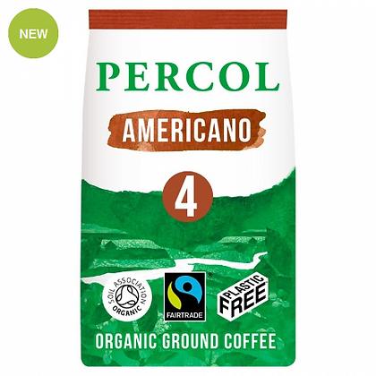 Percol Plastic Free Ground Coffee   Rich Americano   200g