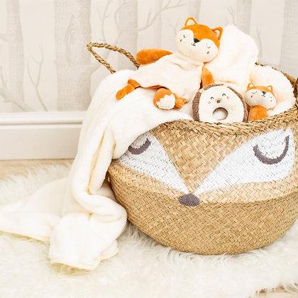 Woodland Fox Basket | Natural Seagrass