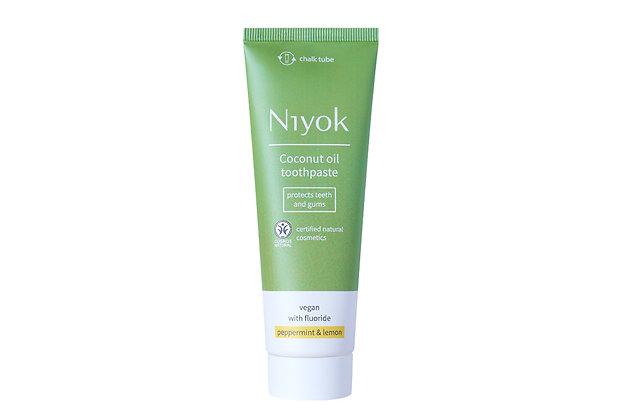 Niyok Peppermint & Lemon Toothpaste   Flouride   75ml