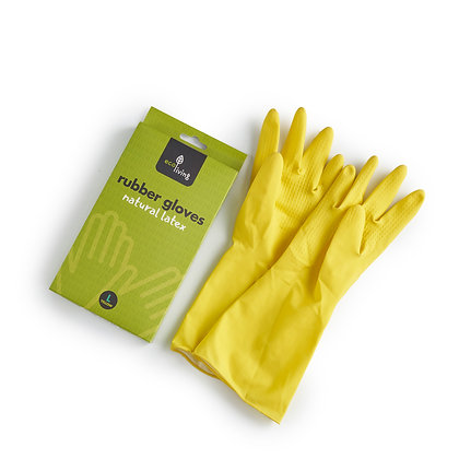 Natural Latex Rubber Gloves | EcoLiving | LARGE