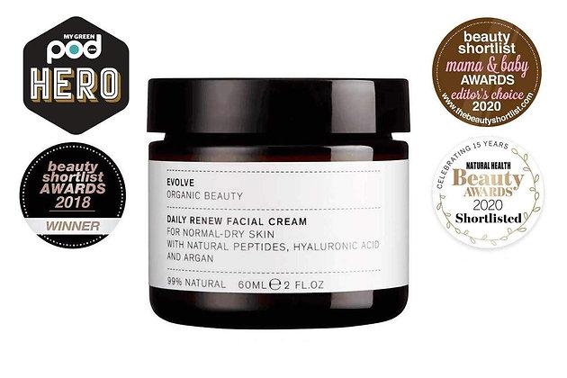 Daily Renew Facial Cream | Evolve Organic Beauty | 60ml