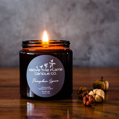 Pumpkin Spice Soy Wax Candle | 100g | Above the Flame