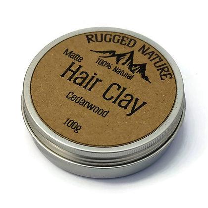 Rugged Nature Cedarwood Hair Clay 100g