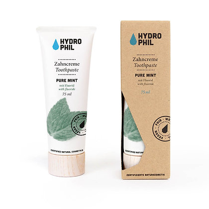 Hydrophil Pure Mint Toothpaste | Eco Packaging | 75ml