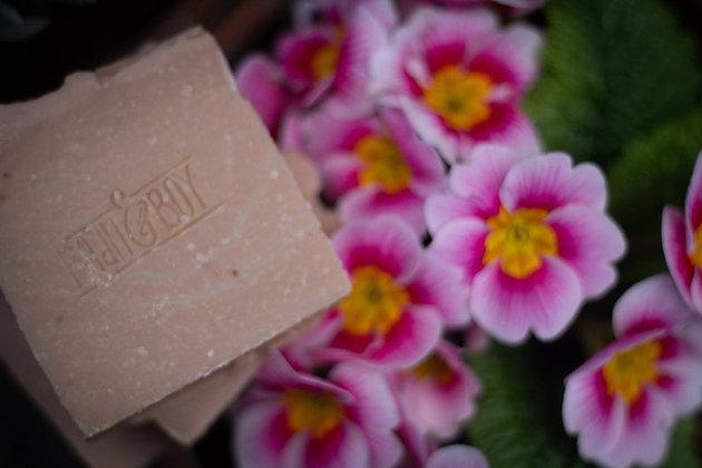 Rose Geranium + Pink Clay Soap Bar 110g - Bean & Boy