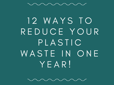 12 Simple ways to reduce your plastic waste in a year.
