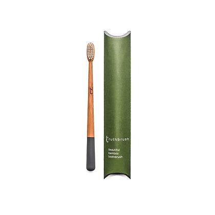 Truthbrush Bamboo Toothbrush | Medium Bristles | Storm Grey