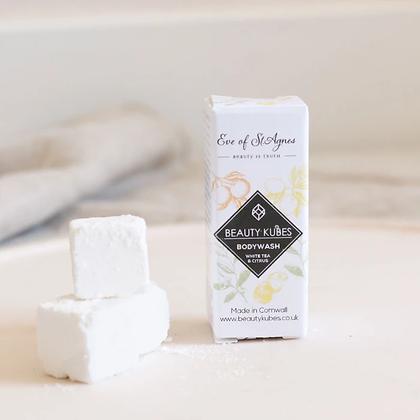 Beauty Kubes | Plastic Free Body Wash | White Tea & Citrus | 3 Pack Travel Size