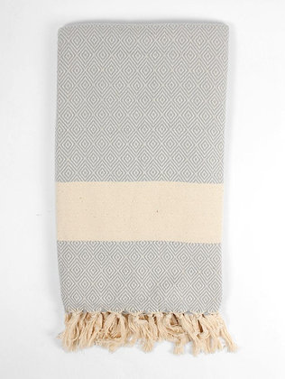 Nordic Hammam Towel | 100% Natural Cotton | Pearl Grey