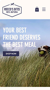 Kjæledyr og dyr website templates – Dog Food Online Store