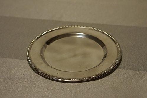 銀色の小皿