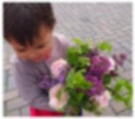 札幌 親子レッスン フラワーアレンジメント パリスタイル 円山公園 BUZZ CAFE