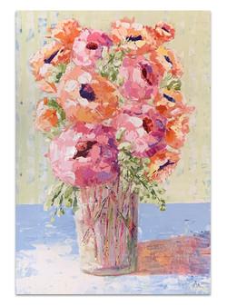 pink orange impression flowers copy