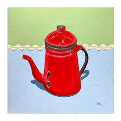 red-coffee-pot-vintage-painting