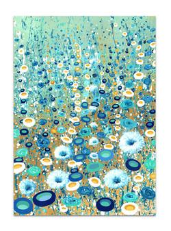 blue-teal-green-gold-whimsical-art