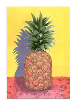 pineapple-acrylic-painting-yellow-pink