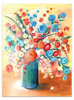 blue-peach-painting-floral-vase
