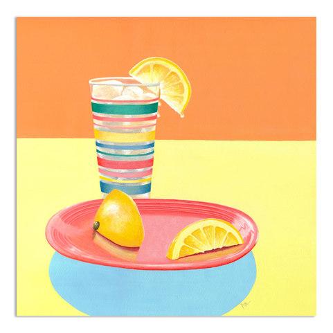 yellow-orange-blue-painting-lemon