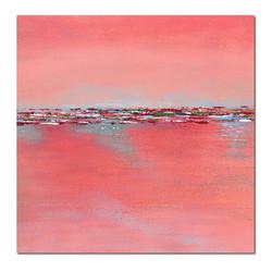 pink-square-landscape-minimalism-painting