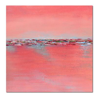 pink-square-landscape-minimalism-paintin