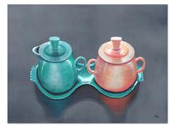 fiestaware-art-painting-aqua-peach