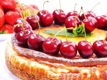 Baked Cherry Cheesecake & Nutty Crust Base