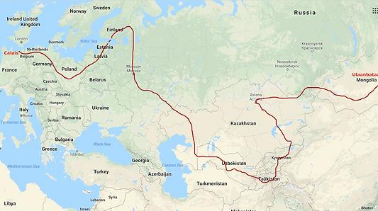 Calais - Ulaanbataar map.png