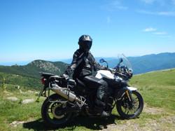 Rider on his Triumph