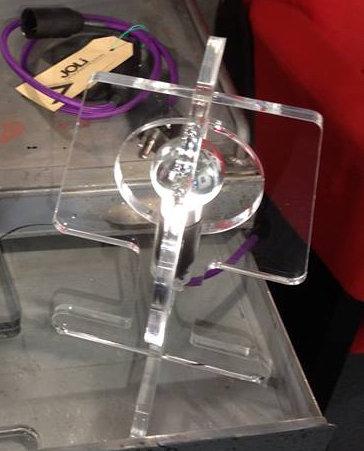 Lampe JO-LI plexiglas transparent