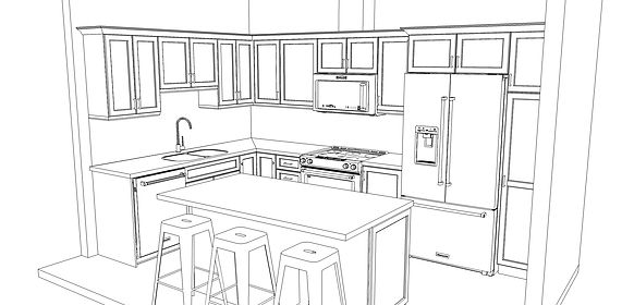 Upgraded Kitchen Finishes Line Drawing.j
