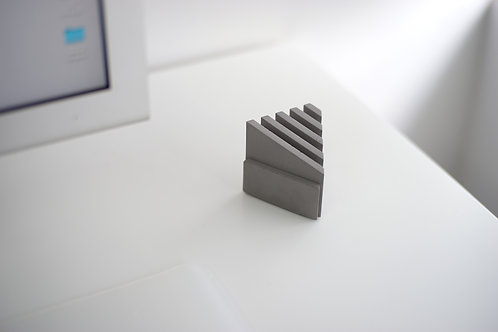 Concrete card holder