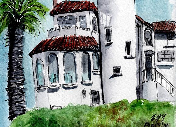 Castle House, watercolor print