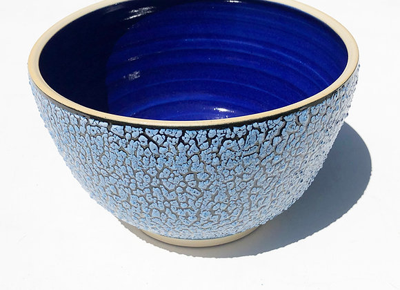 "Salad Bowl, 7""x5"" , Blue Ice"