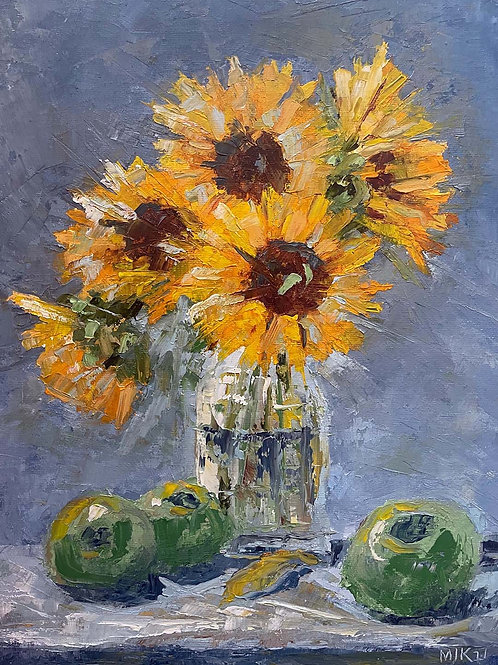 Sunflowers in Hamilton Art Booth