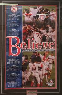 """Red Sox """"Believe"""" Print - 250.00"""