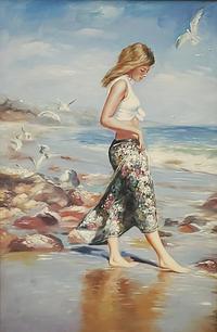 Lady On Beach - 950.00