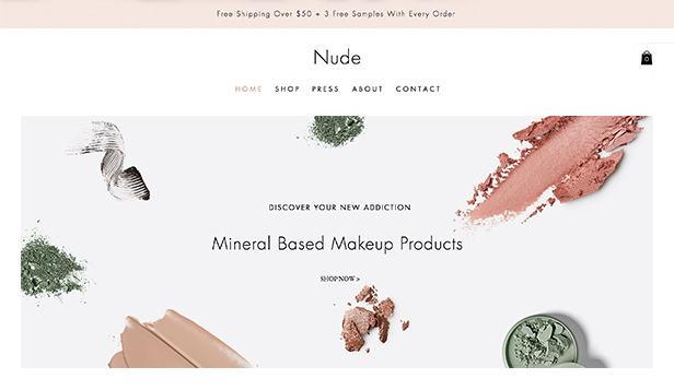 Beauty en wellness website templates – Make-upwinkel