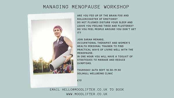 menopause workshop solihull
