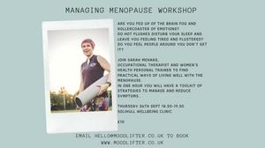 Managing Menopause workshop