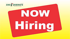 Now Hiring. Open Positions: Servers, Cashiers, Dish Washers, Delivery Drivers, All Restaurant Postions. Zio Johno's Iowa City, North Liberty, Marion, Cedar Rapids.