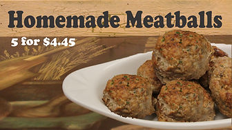 Homemade Meatballs. Pure, lean ground beef with a touch of sweetness.