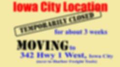 Iowa City Zio Johno's moving to 342 Hwy 1 West, Iowa City IA. Next to Harbor Freght Tools.