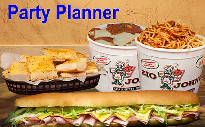 Family Size Servings. Party Planner. Feed up to 10 People or more. Zio Johno's. Pizza, Pasta Sub Sandwiches. Italian Restaurant. Marion, Cedar Rapids, North Liberty, Iowa City, Iowa, IA, Delivery, Carry-Out, Sicilian Feast, Family Feast, Party Planner, Italian Cuisine